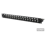 16 Port Unloaded Shielded Patch Panel