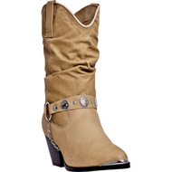 Dingo Women's Olivia All Over Tan Pigskin DI 526 Boot