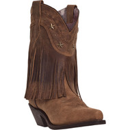 Dingo Women's Hang Low Brown Distressed Crazy Horse  DI7441 Boot