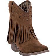 Dingo Women's  Cassidy Rust Microfiber Fringe  DI7448 Boot