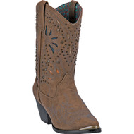 Dingo Women's  Annabelle Dark Tan Distressed Manmade  DI8822 Boot