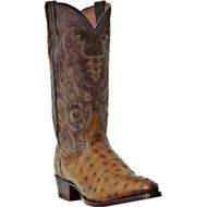 Dan Post Men's  Tempe Saddle Tan Full Quill Ostrich Foot DP2323 Boot