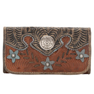 American West Desert Wildflower Ladies' Tri-Fold Wallet 5683282