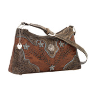 American West Desert Wildflower Zip-Top Shoulder Bag 5683285