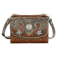 American West Texas Two Step Small Crossbody Bag/Wallet  5683982