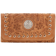 American West Harvest Moon Ladies' Tri-Fold Wallet 6315282