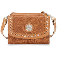 American West Texas Two Step Small Crossbody Bag/Wallet  6315982