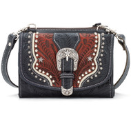 American West Texas Two Step Small Crossbody Bag/Wallet  7694982