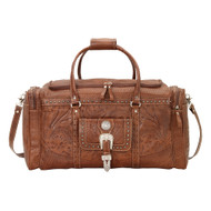 American West Retro Romance  Zip Around Rodeo Bag with Front Pouch and Side Zipper Pockets 8565721