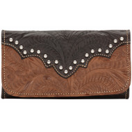 American West Annie's Secret Collection Ladies' Tri-Fold Wallet 9165282