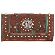 American West Lady Lace Ladies' Tri-Fold Wallet LCBT282