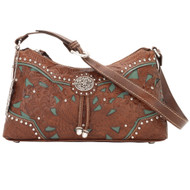 American West Lady Lace Zip-Top Shoulder Bag LCBT285