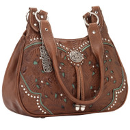 American West Lady Lace 3 Compartment Zip-Top Scoop Tote LCBT767