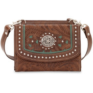 American West Texas Two Step Small Crossbody Bag/Wallet  LCBT982