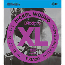 Daddario EXL120-3D 9-42 Electric Strings - 3 PACK