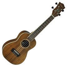 TIKI Solid Top Koa Concert Ukulele in Case