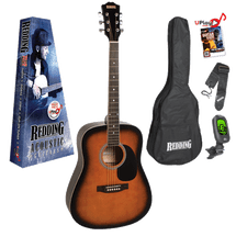 Redding Dreadnought Acoustic Guitar PACKAGE - Assorted Colours