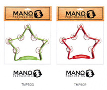 "MANO 8.5 X 7.5"" STAR Tambourine - Red or Green"