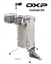 DXP Cocktail Drum Kit - Silver Sparkle