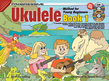 Progressive Young Beginner Ukulele Book 1 CD/DVD