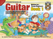 Progressive Young Begiiner Guitar Book 1 CD/DVD