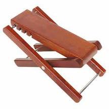 Martinez Deluxe Adjustable Timber Guitar Footstool