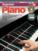 Progressive Beginner Piano Book, CD & DVD