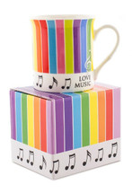 Stripes & Note Coffee Mug in Gift Box