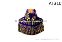Afghan Nomad Ethnic Dress Tribal Style Floral Needlework Maxi Frock