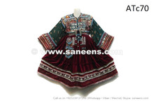 afghan kuchi coins clothes dress with tassels
