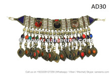 afghan kuchi vintage jewelry necklace