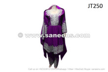 afghan pashtun dress in purple color