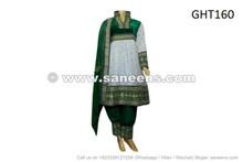 afghan clothing, muslim bridal dress in white color