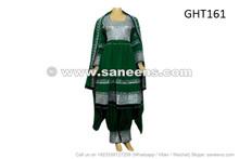 afghan dress in green color