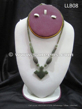afghan jade stone necklace