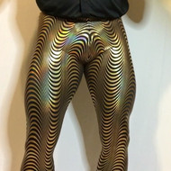 Gold Hologram Waves