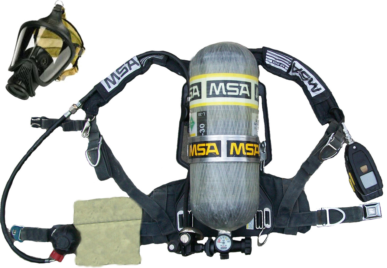 Msa M7 Cbrn Firehawk 2002 Spec Refurbished Scba on scott air pack parts diagram