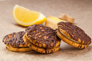 Ginger Lemon Chocolate Cookies