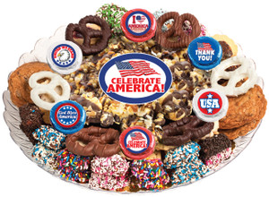 AMERICA - Gourmet Popcorn & Cookie Assortment Platters