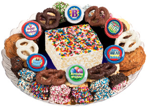 BIRTHDAY - Marshmallow Crispy Treat & Cookie Assortment Platters