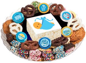 BABY BOY - Marshmallow Crispy Treat & Cookie Assortment Platters - SPECIAL ORDER