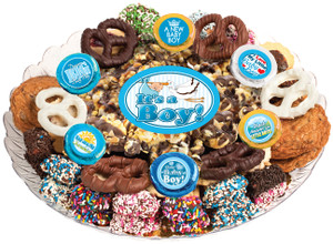 BABY BOY - Gourmet Popcorn & Cookie Assortment Platters
