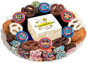 CONGRATULATIONS - Marshmallow Crispy Treat & Cookie Assortment Platters