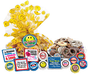 "GET WELL - ""Cookie Talk' Message Platters"