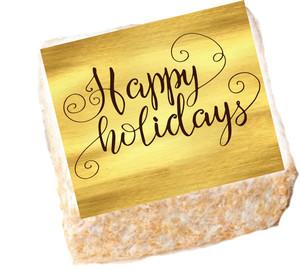 CHRISTMAS OR HAPPY HOLIDAYS - Marshmallow Crispy Cake