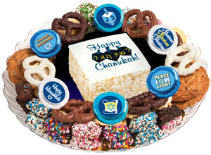 HANUKKAH - Marshmallow Crispy Treat & Cookie Assortment Platter