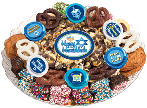 HANUKKAH - Gourmet Popcorn & Cookie Assortment Platters
