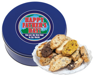 FATHER'S DAY BISCOTTIS  - 1 Lb. Tin