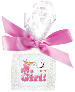 IT'S A GIRL! Custom Printed Chocolate Graham Cookies SPECIAL ORDER