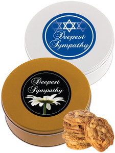SYMPATHY/ SHIVA Chocolate Chip Cookie Tin - 1 lb.